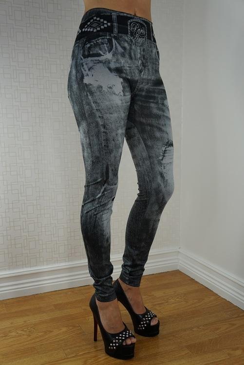 Diva Angel Jeans Print Leggings