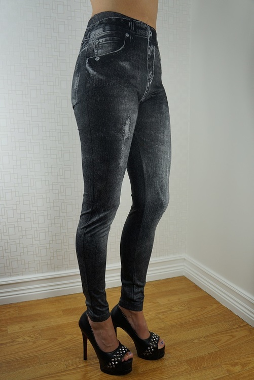 Black & Blue Jeans print Leggings