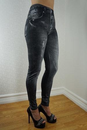 Black & Blue Jeans print Leggings