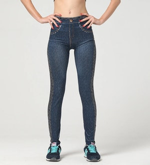 Jeans Leggings med mönster