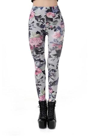 Blommiga leggings