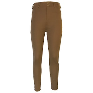 Stretch leggings jeggings Brun