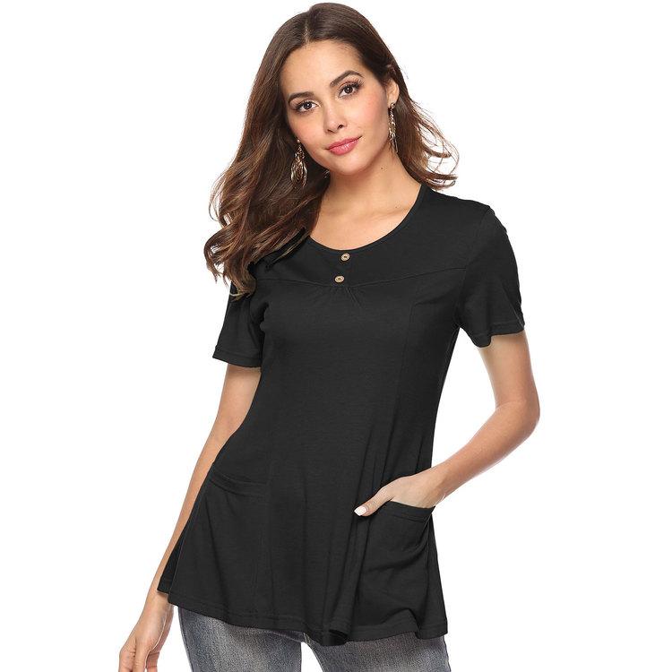 Stilren Topp T-shirt med fickor