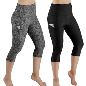Yoga Fitness Capri med fickor leggings tights