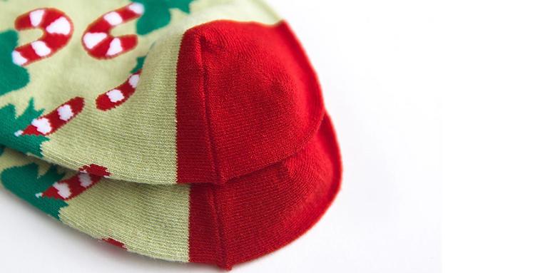 Julstrumpor Trendiga Färgglada sockar 5 olika motiv