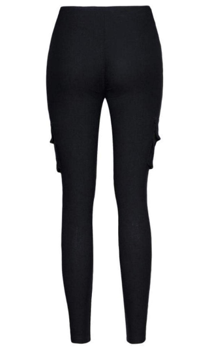 Svarta Cargo Leggings