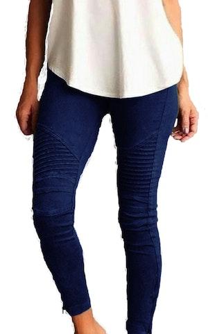 Navy Leggings med fickor fram
