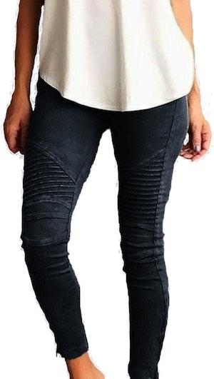 Svarta Leggings med fickor fram