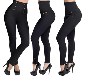 Svarta Leggings i 3 modeller