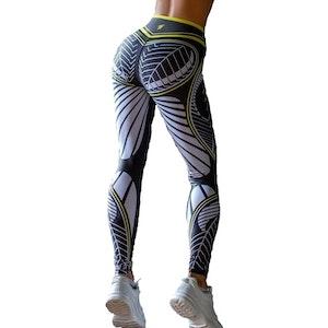 Svarta Mandala Sport Gym Tights