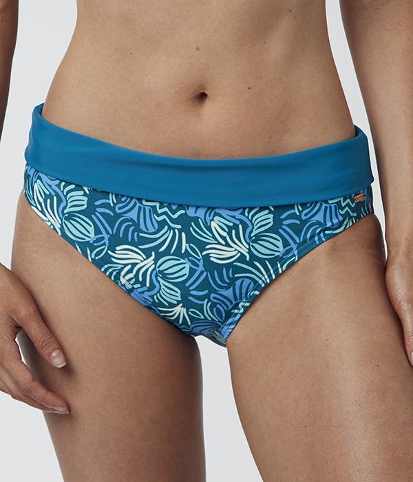 Abecita Gröntryckt bikinitrosa med vikbar kant