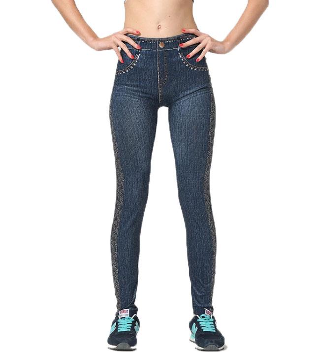 Jeans Leggings med mönster