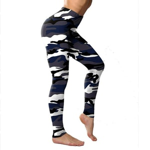 Kamouflage Leggings Svart
