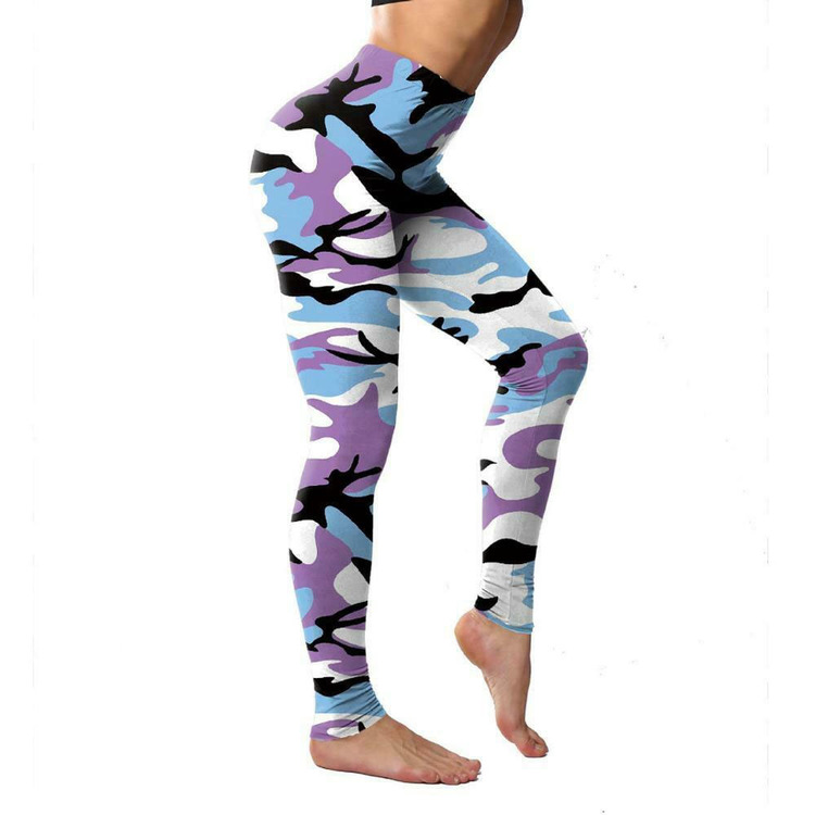 Kamouflage Leggings Lila