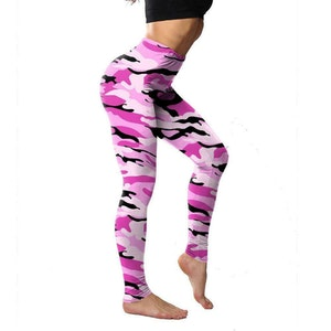 Kamouflage Leggings Rosa