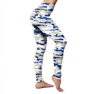Kamouflage Leggings Blå