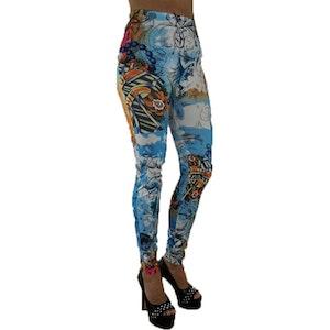 Blue Tattoo Leggings