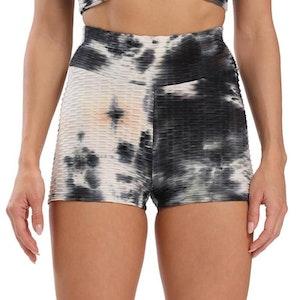 Svart Vita Shorts