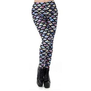 Sjöjungfru Mermaid Leggings