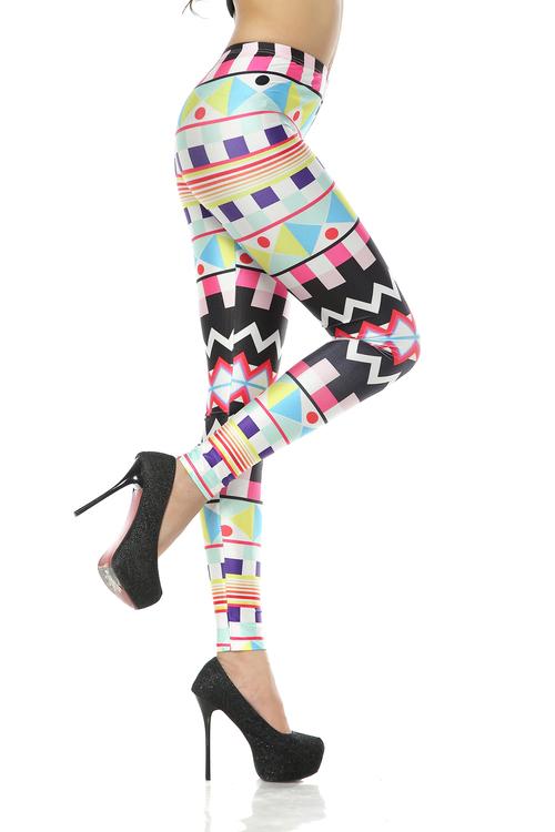 Färgglada Aztec Leggings