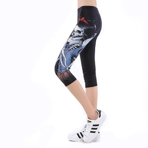 Skelett Prinsessan Capri Leggings