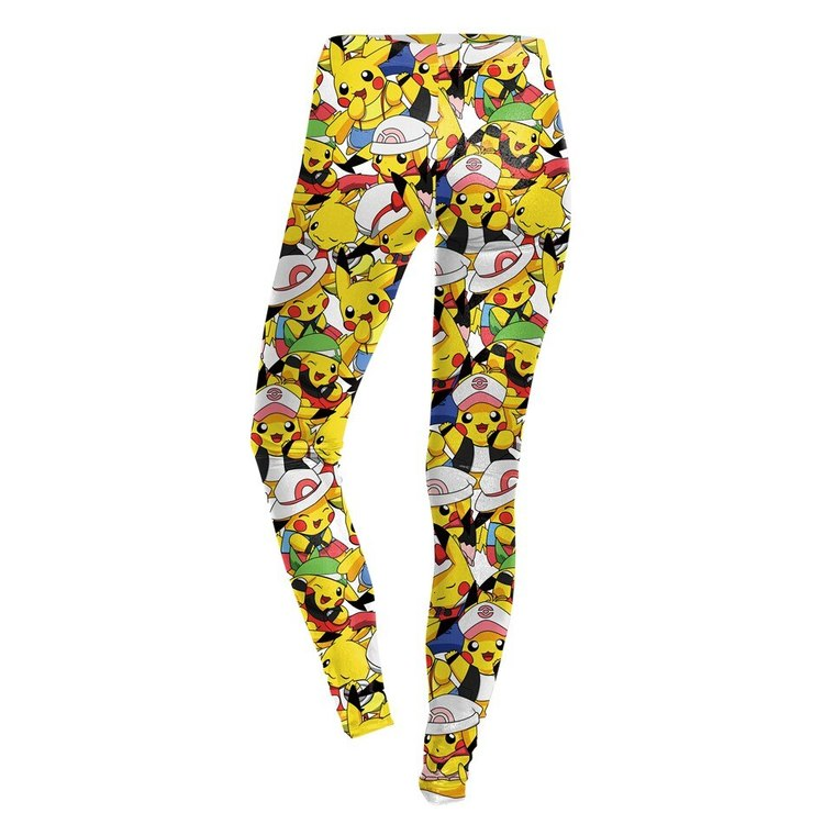 Gula Småfigurer Poke Mon Leggings