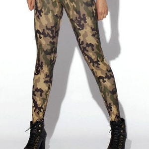 Camouflage Arme Mönstrade Leggings
