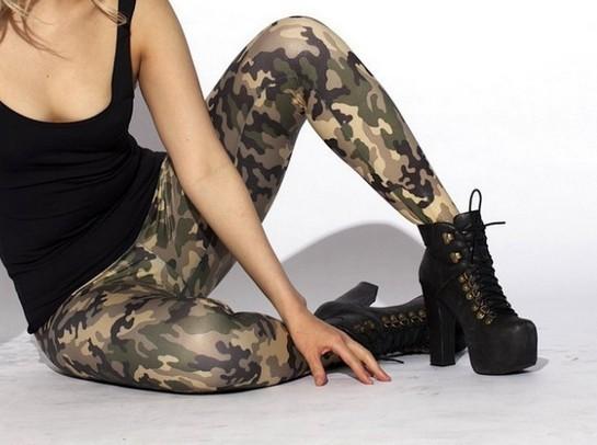 Camouflage Arme Mönstrade Leggings
