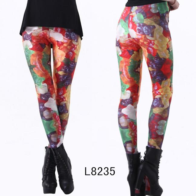 Färgglada Frukt Leggings