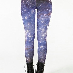 Galaxy Blå Universum Leggings
