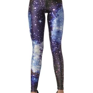 Blå Universum Galaxy Leggings