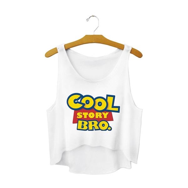 Gul Cool Story Bro Letter Crop topp