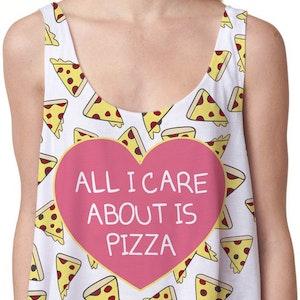 Allt jag bryr om är Pizza Crop Topp