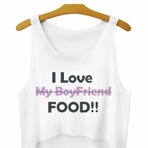 I Love Food Crop Topp