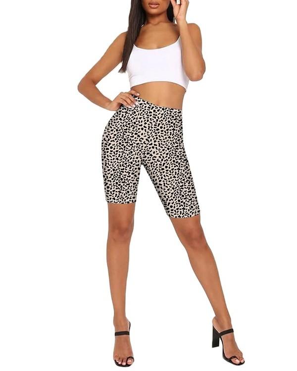 Leopard mönstrade Yoga Shorts