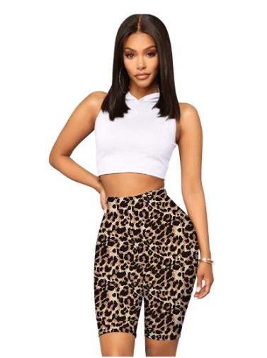 Leopardmönstrade shorts