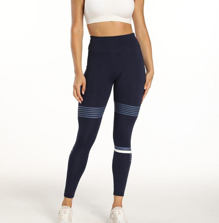 Sport Leggings med grått och vitt tryck