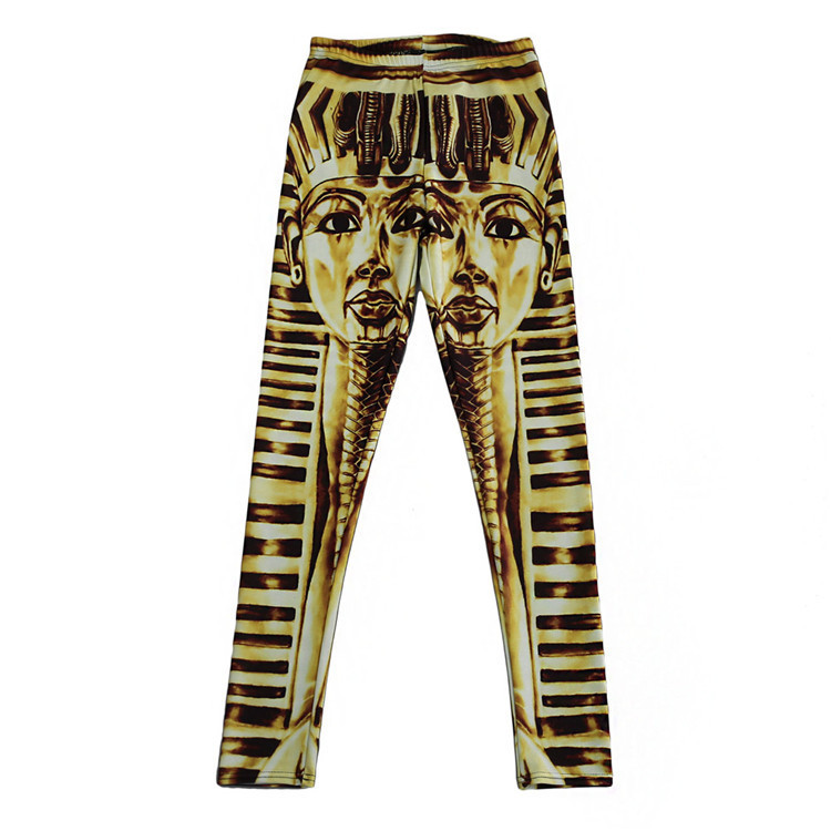 Egyptiskt Farao Mönstrade Leggings