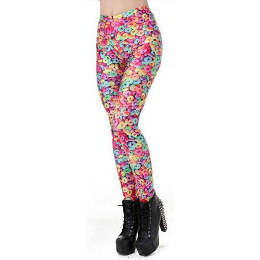 Färgglada leggings med flingor