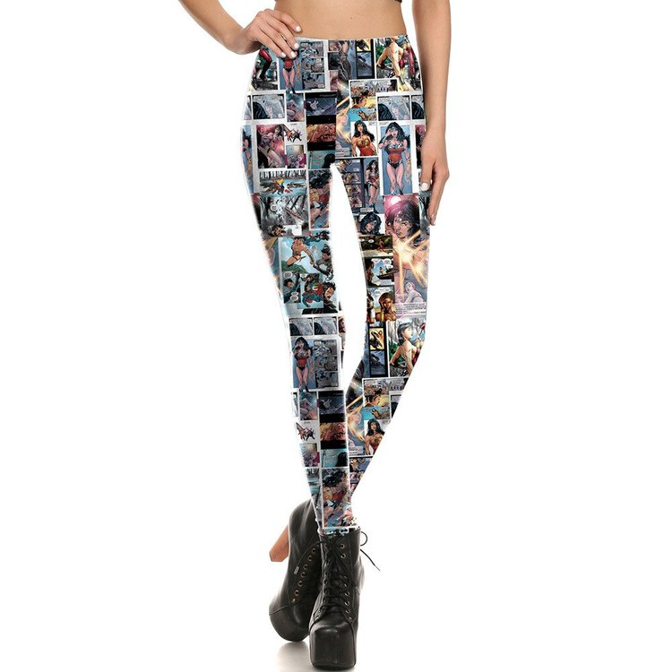 Wonder Women Cartoon tryck Leggings
