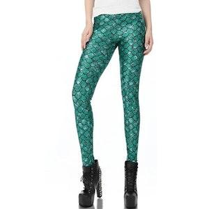 Gröna sjöjungfru leggings