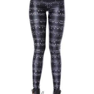 Musik Noter Leggings