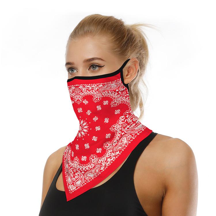Munskydd Ansiktsscarf Bandanna Baklava Tvättbar Röd