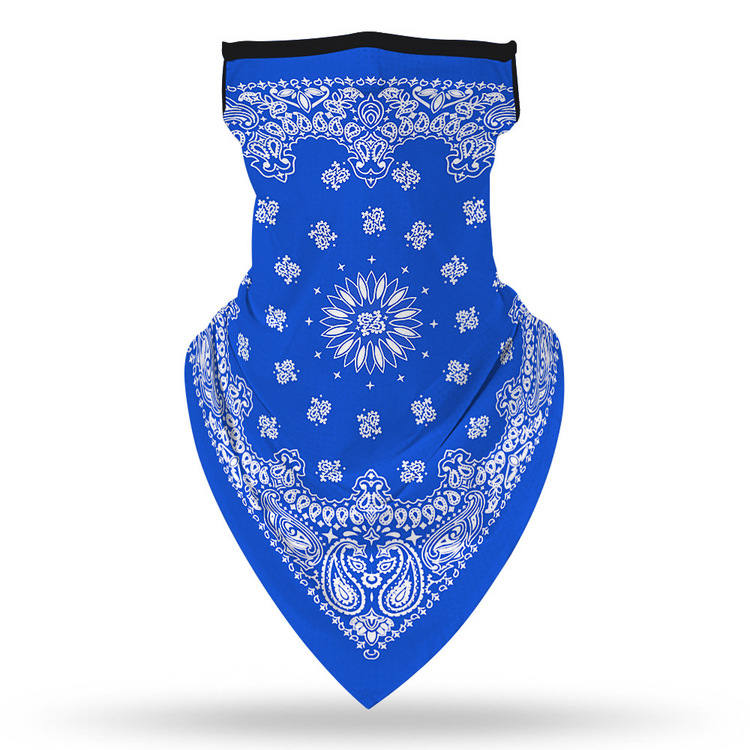 Munskydd Ansiktsscarf Bandanna Baklava Tvättbar Blå
