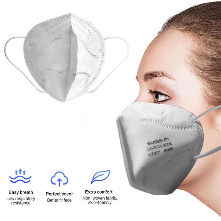 Munskydd Ansiktsmask KN95 med över 95% filtrering 10-pack