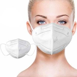 Munskydd Ansiktsmask KN95 med över 95% filtrering 50-pack
