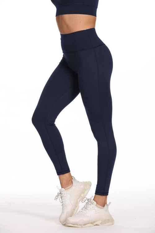 Leggings med hög midja Navy