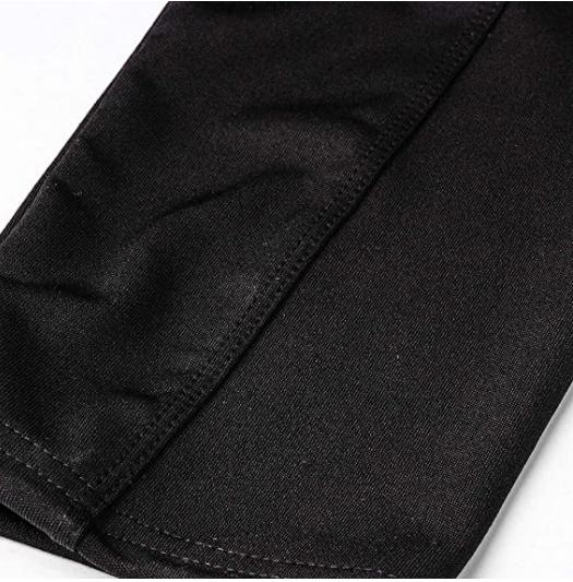 Svarta Leggings med snörning i midjan