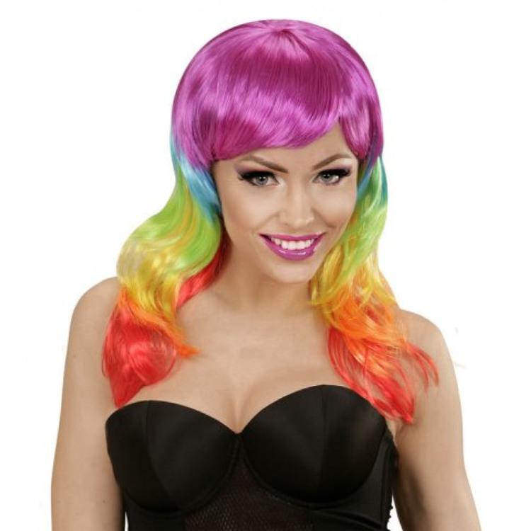 Flerfärgad peruk