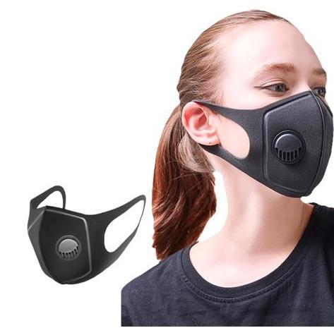 Tvättbara Munskydd med ventil 4-pack